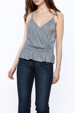 Shoptiques Product: Denim Peplum Top