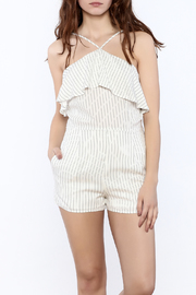 Naked Zebra Halter Stripe Romper - Product Mini Image