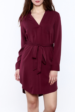 Naked Zebra Wine Long Sleeve Dress - Product List Image
