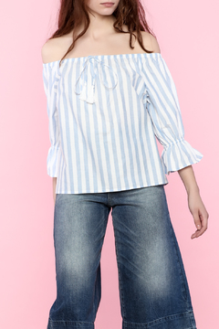 Shoptiques Product: Stripe Off Shoulder Top