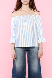 Shoptiques Product: Stripe Off Shoulder Top - Front full body