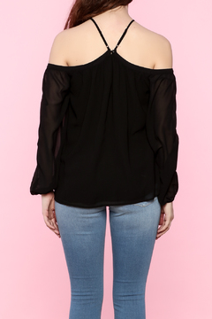 Shoptiques Product: Black Off Shoulder Top