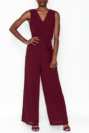 Naked Zebra Sleeveless Wrap Jumpsuit - Front cropped
