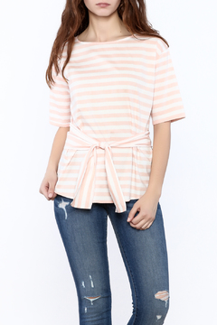 Shoptiques Product: Striped Waist Tie Top