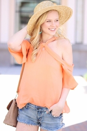 Naked Zebra Bright Coral Top - Product Mini Image