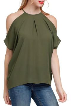 Naked Zebra Cold Shoulder Blouse - Product List Image