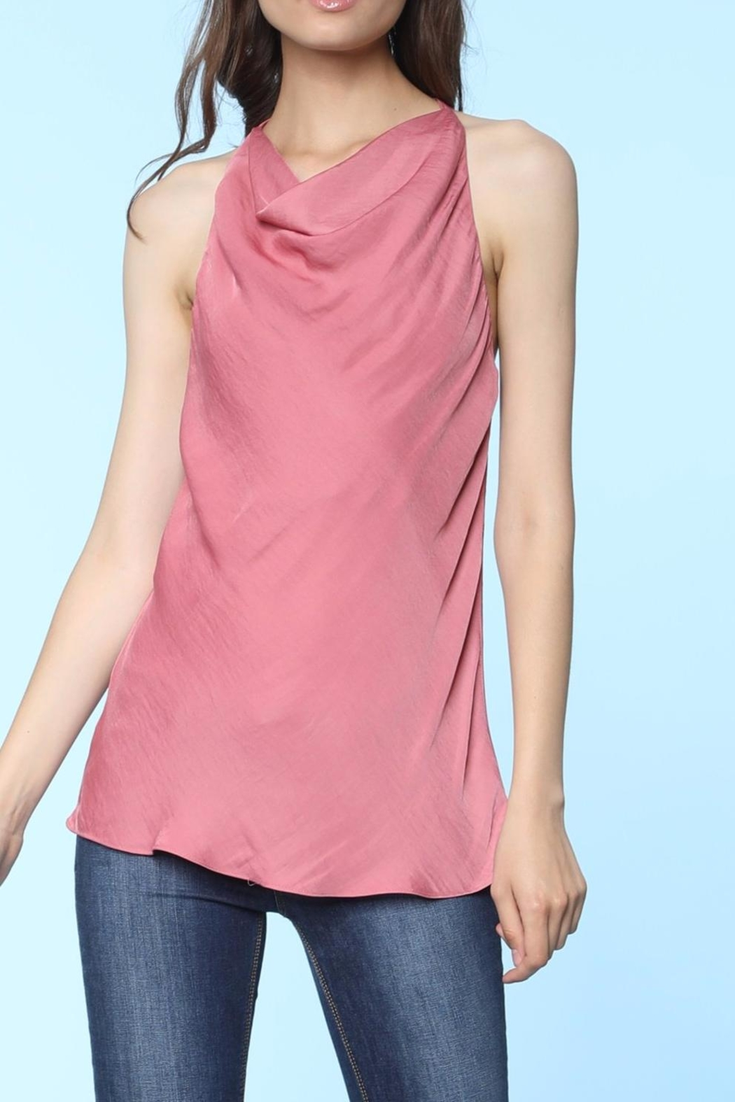 Naked Zebra Cowl Neck Cami Top - Front Cropped Image