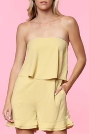 Naked Zebra Golden Strapless Romper - Product Mini Image