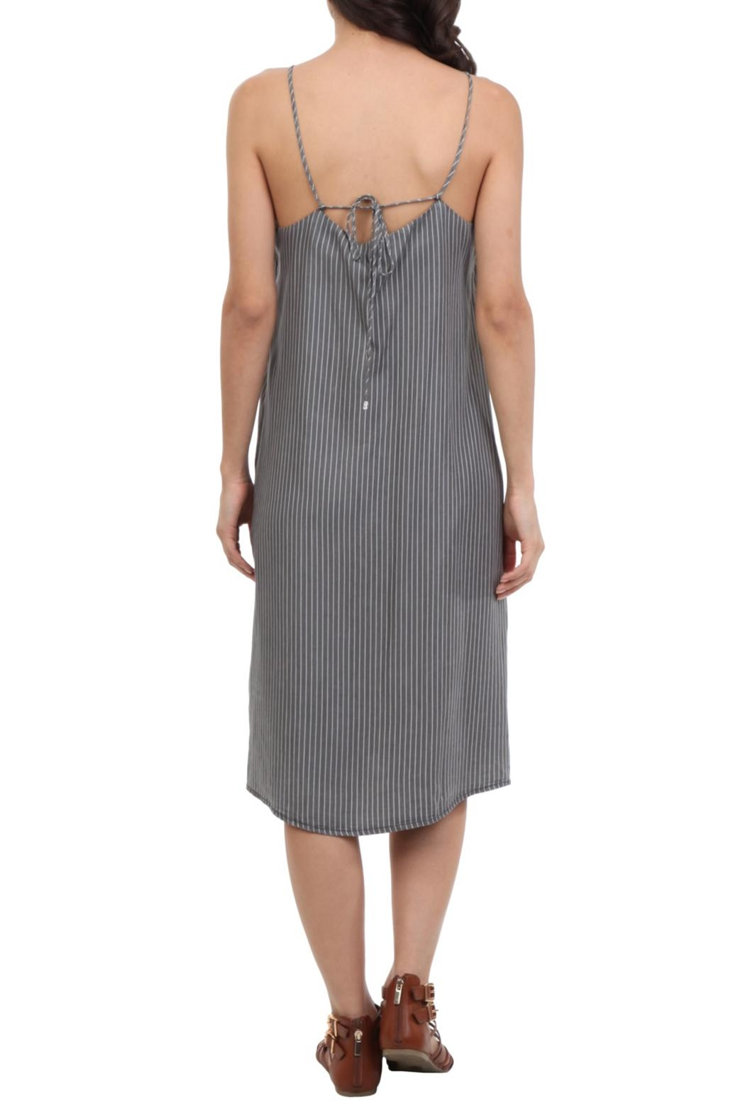 Naked Zebra Midi Denim Dress - Side Cropped Image