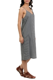 Naked Zebra Midi Denim Dress - Front full body