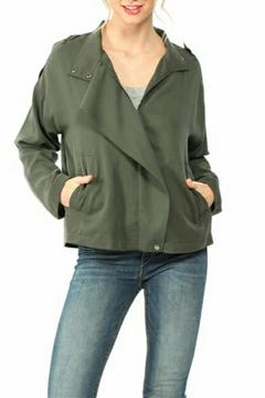 Shoptiques Product: Olive Flowy Jacket