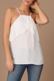 Naked Zebra Overlap Frill Top - Front cropped