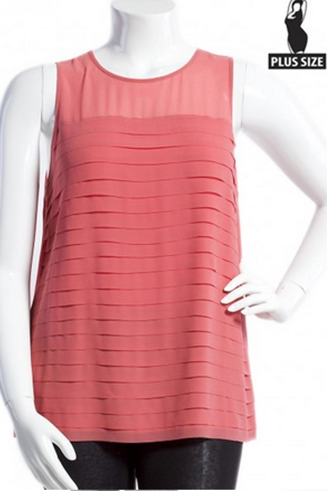 Naked Zebra Pleated Tiered Tank - Front Cropped Image