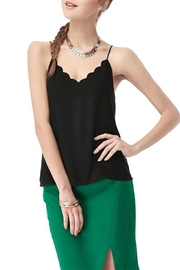 Naked Zebra Scalop Neckline Top - Product Mini Image