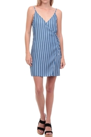 Naked Zebra Stripe Wrap Dress - Front cropped
