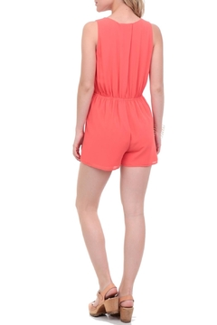Naked Zebra Surplice Drape Romper - Alternate List Image