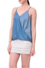 Naked Zebra Tencel Surplice Tank Top - Product Mini Image