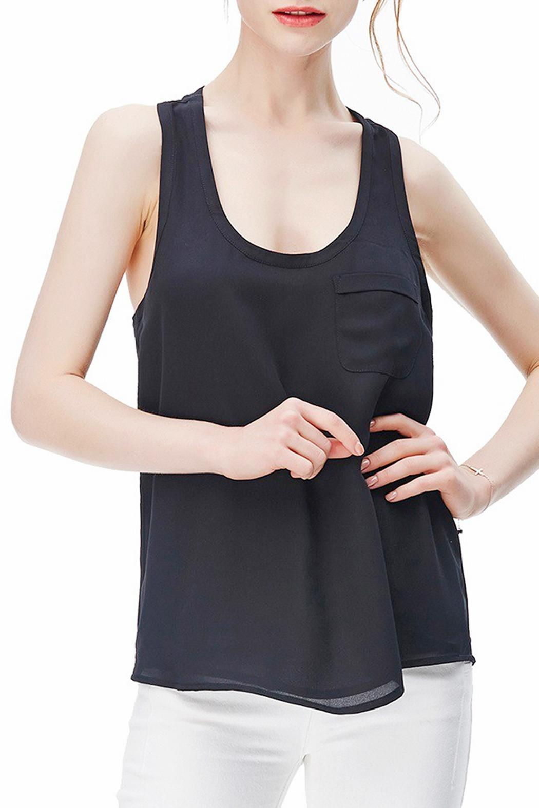 Naked Zebra Woven Tank Top - Front Cropped Image