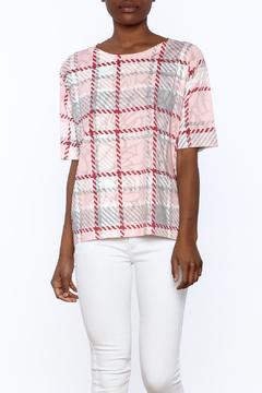 Nally & Millie Houndstooth Print Top - Product List Image