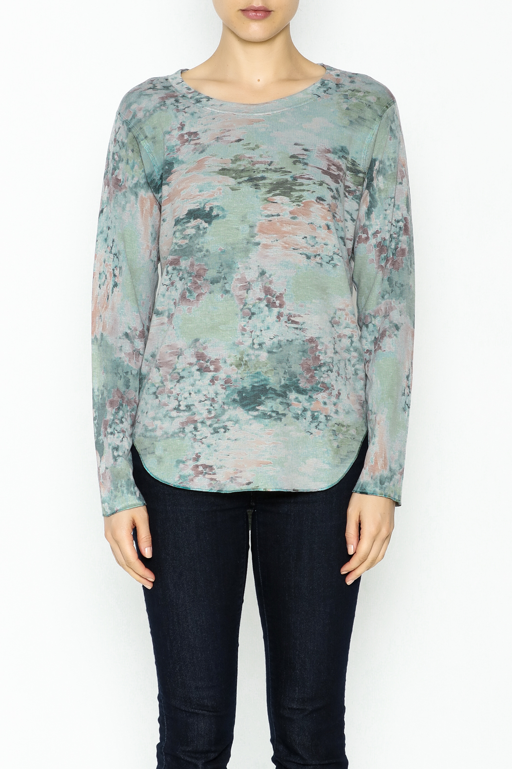 Nally & Millie Monet Print Jersey Top - Front Full Image