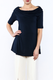 Nally & Millie Ruched Neck Top - Product Mini Image