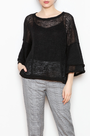Nally & Millie Ruffle Sleeve Knit - Product Mini Image