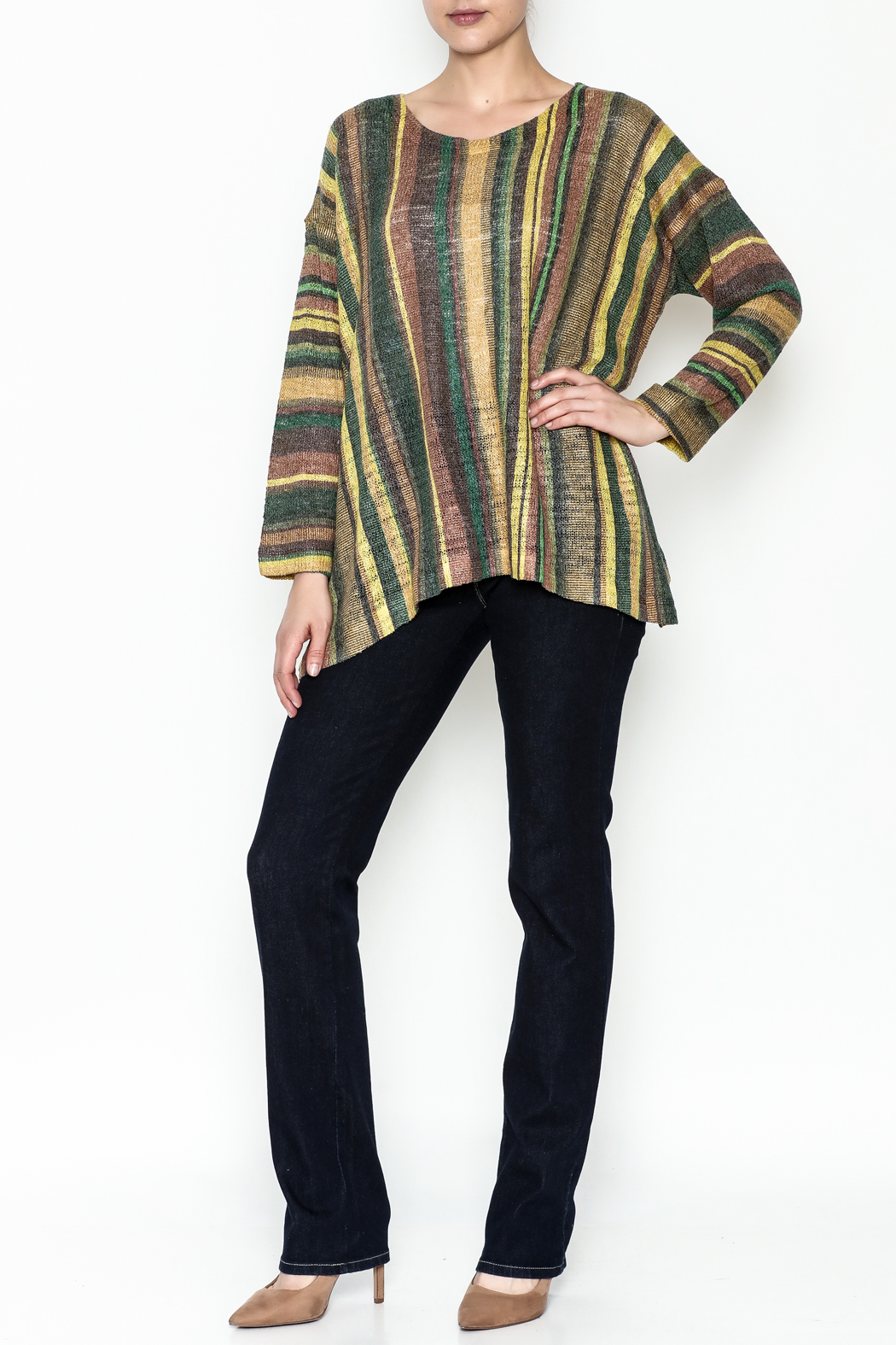 Nally & Millie Stripe Top - Side Cropped Image
