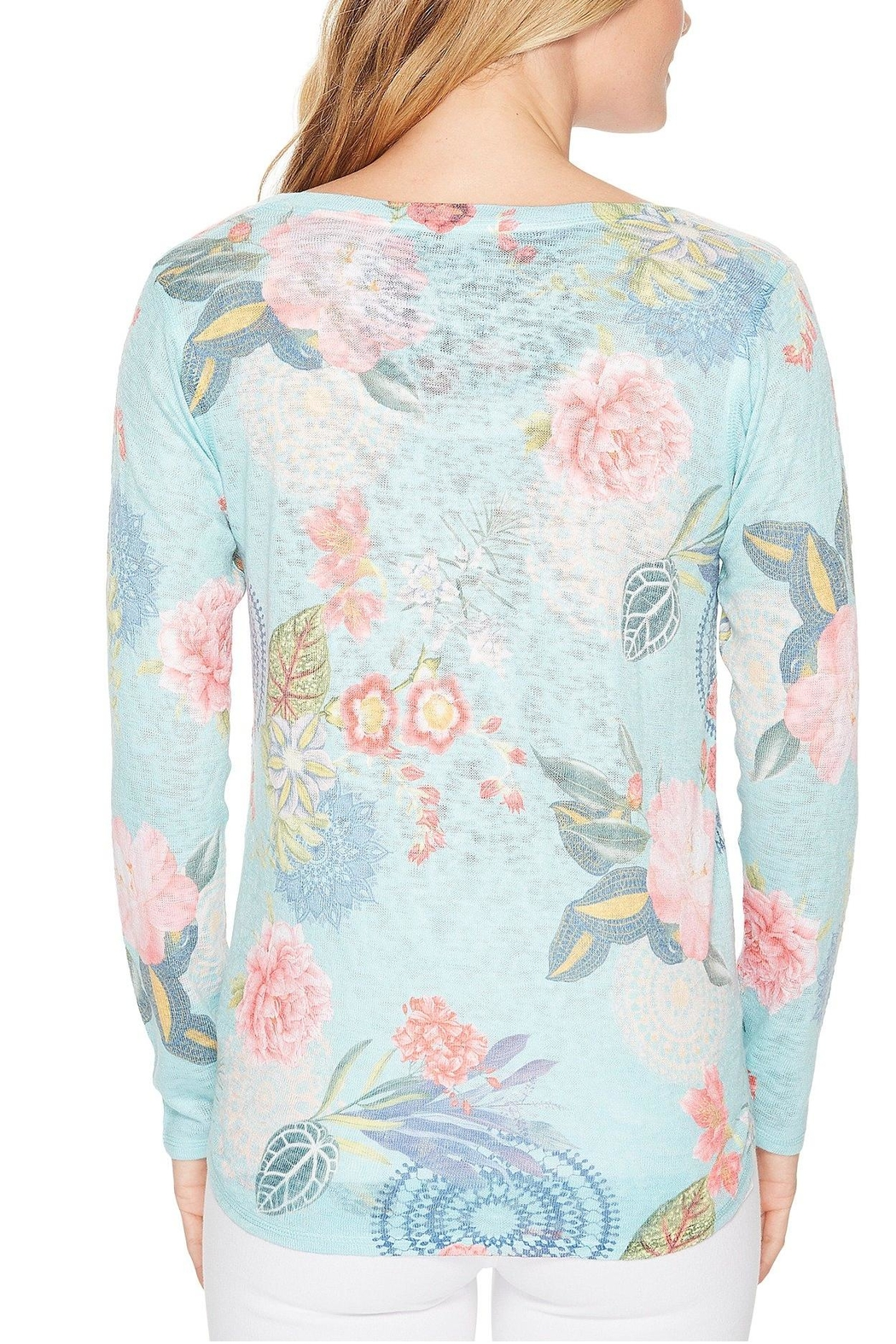 Nally & Millie Floral Print Top - Side Cropped Image