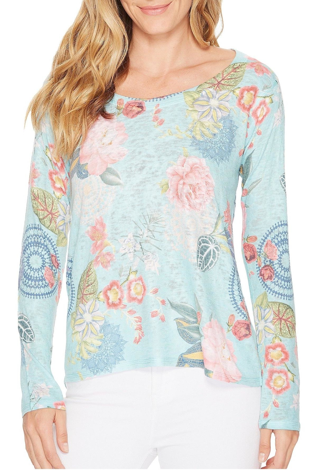 Nally & Millie Floral Print Top - Front Full Image