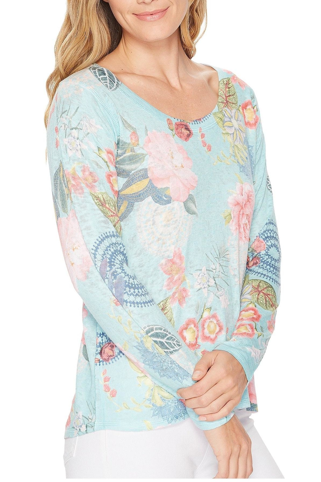 Nally & Millie Floral Print Top - Main Image