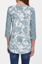 Whimsy Rose Namaste Floral Tunic - Front full body