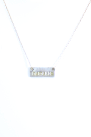 The Birds Nest NAMASTE RECTANGLE NECKLACE - 8.5 INCH CHAIN - Product Mini Image