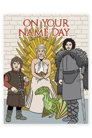 The Found Name Day Card - Front cropped