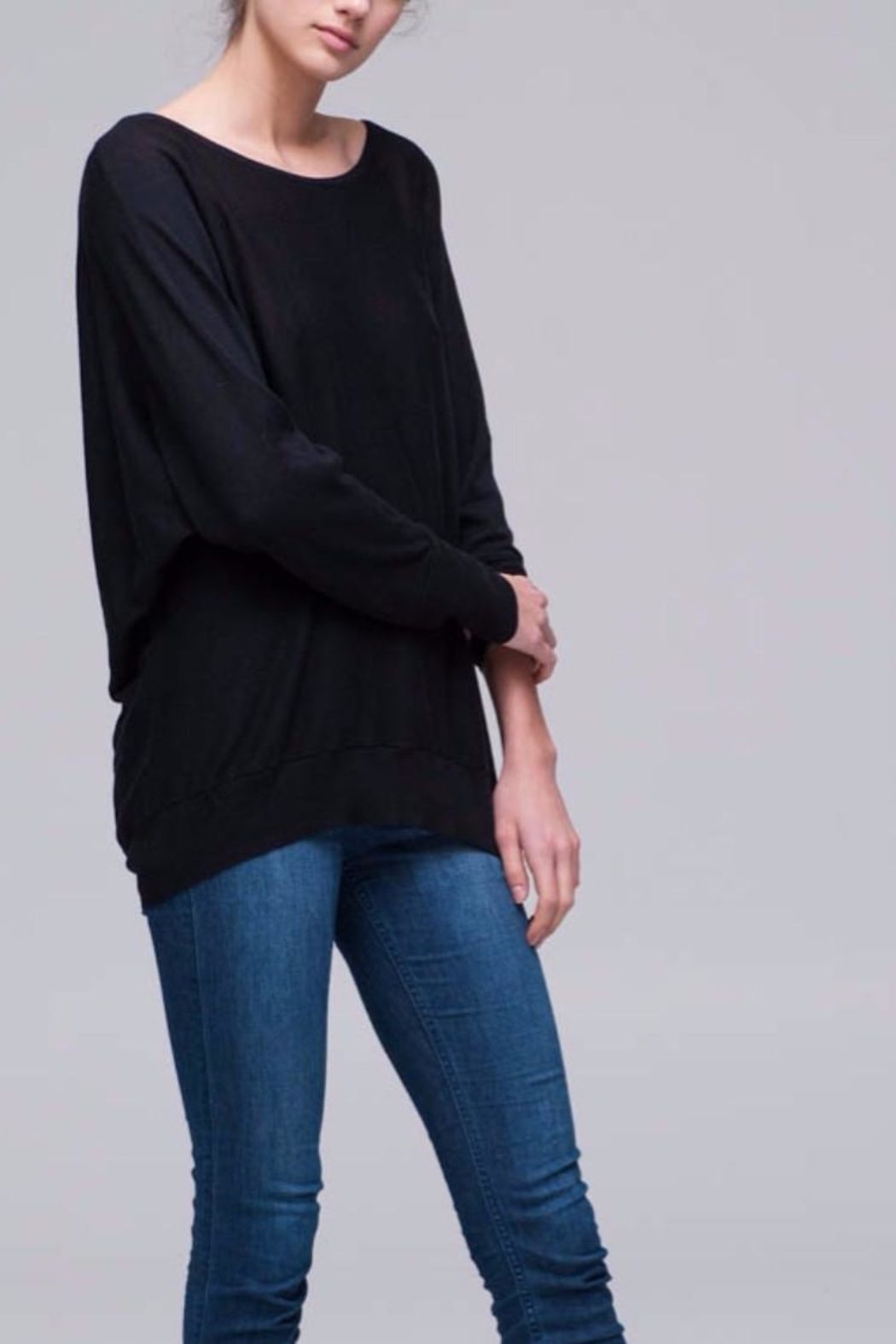 Nanavatee Draped Back Pullover - Front Cropped Image