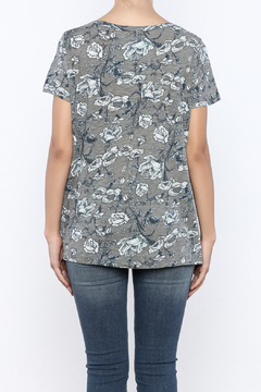 Shoptiques Product: Grey Floral Tee