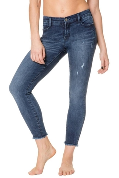 Nancy Rose Frayed Cropped Jeans - Product List Image