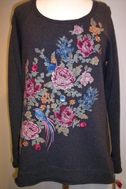 Johnny Was Collection Nanette Cross-Stitched Sweatshirt - Product Mini Image