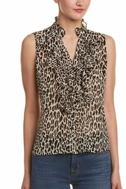 Nanette Lepore Ruffle Silk Top - Product Mini Image