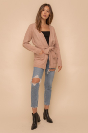 Hem and Thread Nantucket Belted Open Cardigan - Front full body