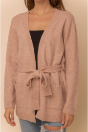 Hem and Thread Nantucket Belted Open Cardigan - Side cropped