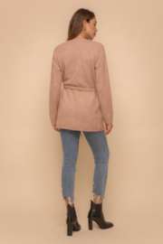 Hem and Thread Nantucket Belted Open Cardigan - Back cropped