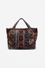 Johnny Was Naomi Embroidered Velvet Tote Bag - Front full body