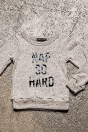 Sweet Claire Nap So Hard Brushed Fleece Sweatshirt - Front cropped