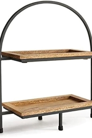 Napa Home & Garden Carneros 2-Tier Rectangular Serving Tray - Product Mini Image