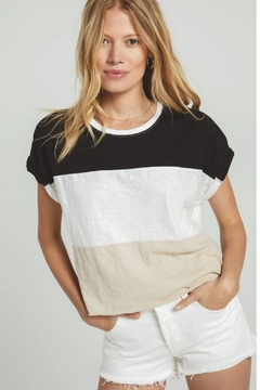 Z Supply  Napali Stripe Tee Black - Product List Image