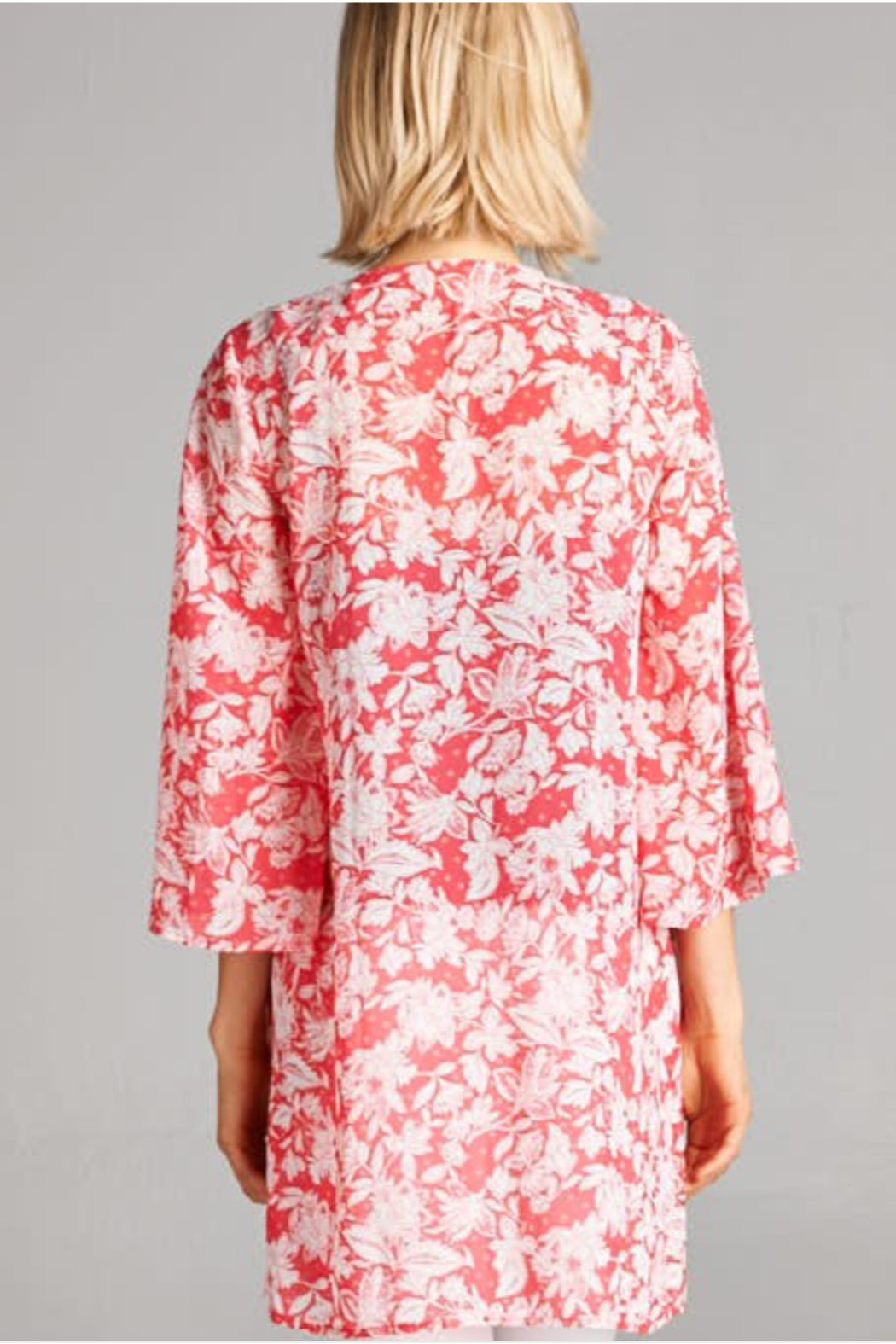 DNA Couture Naples Floral Kimono - Front Cropped Image