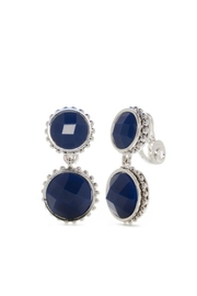 Napier Navy Circle Clip-Earrings - Product Mini Image
