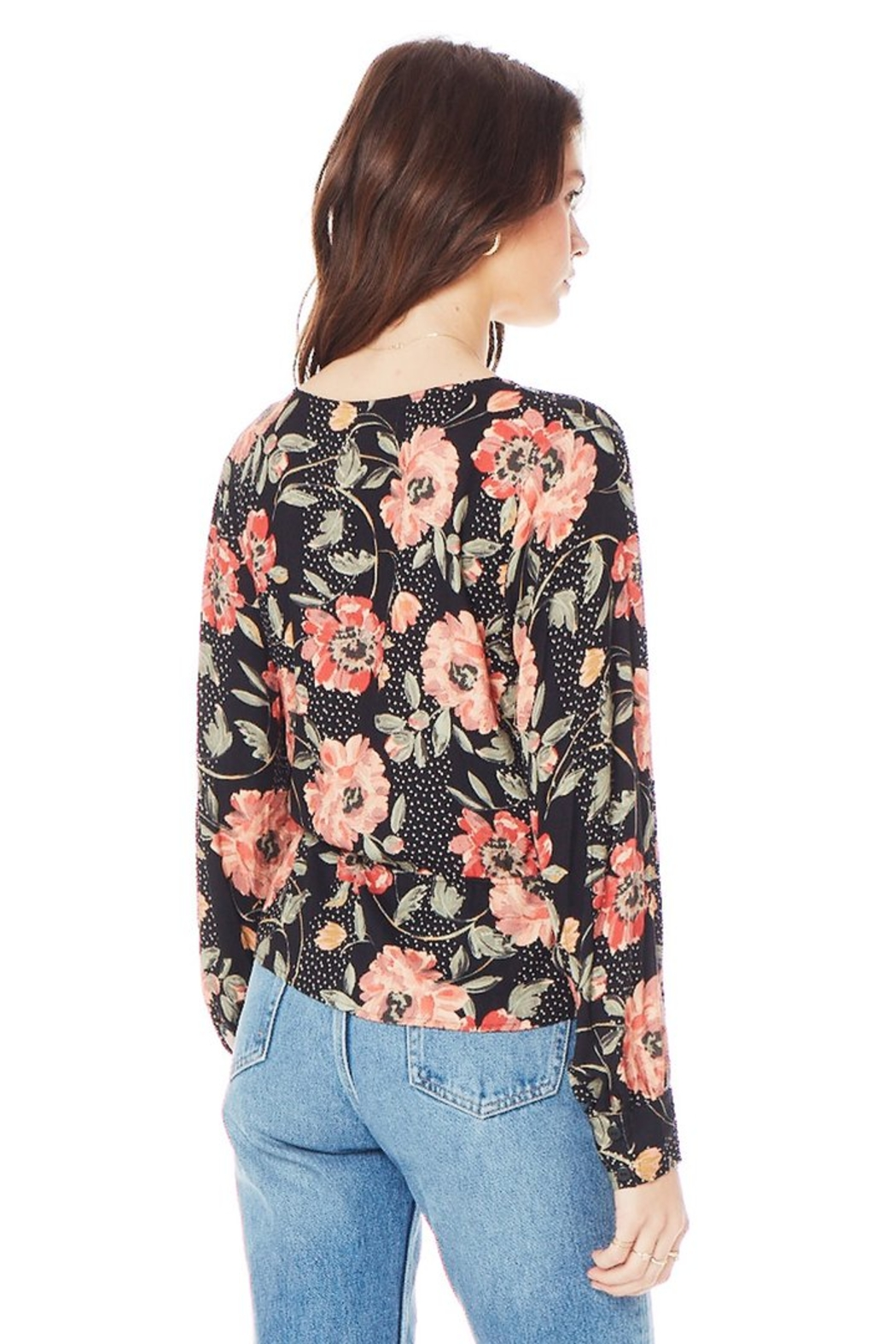 Saltwater Luxe Naples Wrap V-Neck Blouse - Side Cropped Image