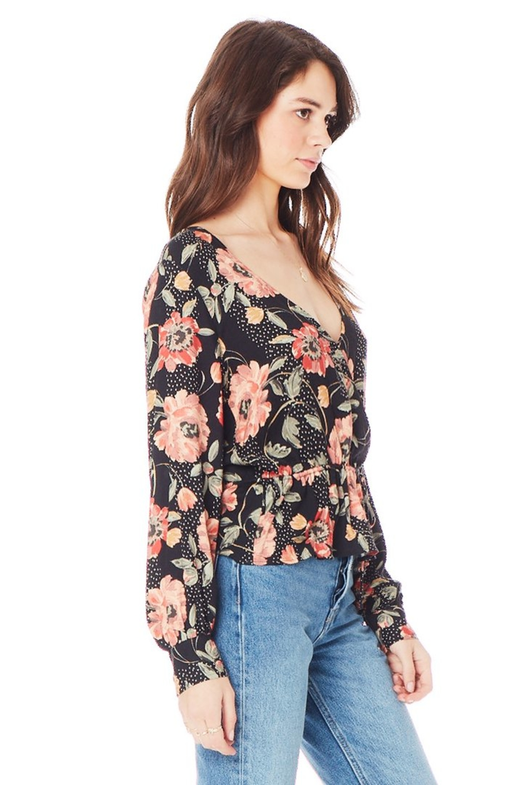 Saltwater Luxe Naples Wrap V-Neck Blouse - Front Full Image