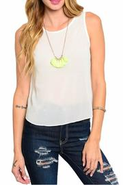 Naranka Green Ivory Tank - Product Mini Image